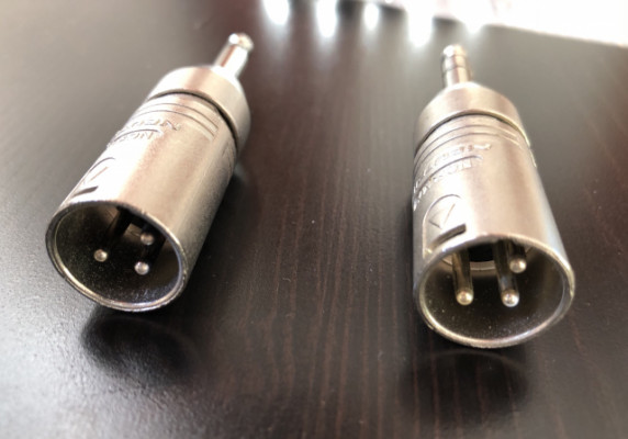 Adaptadores TRS a XLR macho (2 unidades)