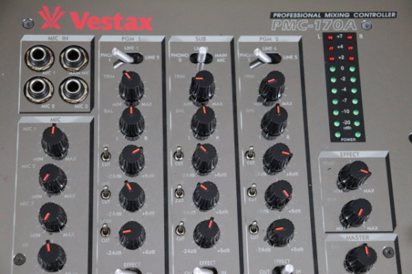 VESTAX PMC-170A. Mesa Analógica de 4 canales, Pro Mesa