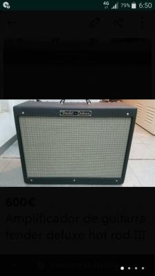 Amplificador Fender Deluxe Hot Rod