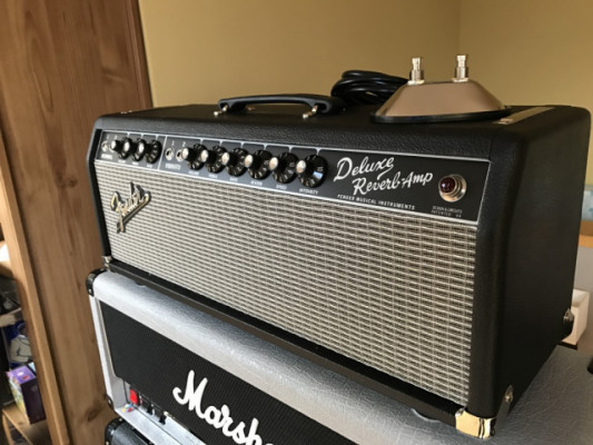 VENDO FENDER 65 DELUXE REVERB HEAD MADE IN USA NUEVECITO