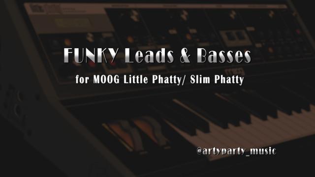 FUNKY Leads & Basses para MOOG Little Phatty/ Slim Phatty