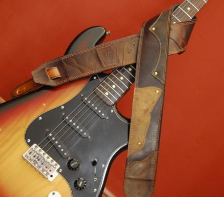Correas de Guitarra de cuero personalizadas