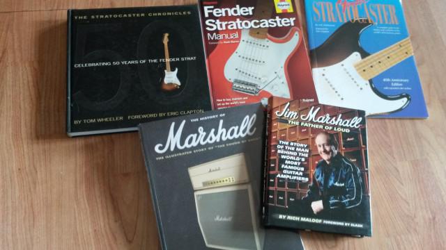 : Libros de Música, Guitarra, Fender, Marshall, Boss, etc.