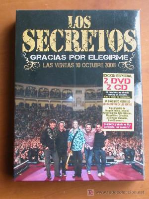 """Los Secretos """"Gracias Por Elegirme"""" 2DVDS & 2CDS"""