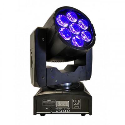 Cabeza móvil BEAM WASH 7X15W RGBW Zoom