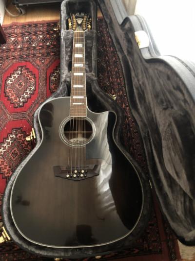 Guitarra acústica Dangelico Excell fulton 12 cuerdas grey black