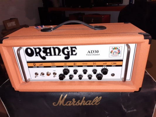 "Orange AD30HTC Twin Channel UK 30 watts + pantalla 4x12"" Celestion Vintage 30"