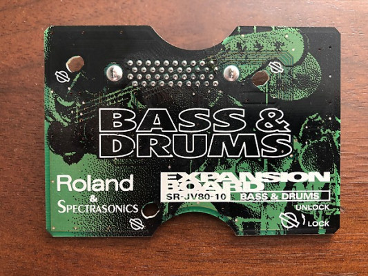 Roland Expansion SR-JV-80 Bass and drums