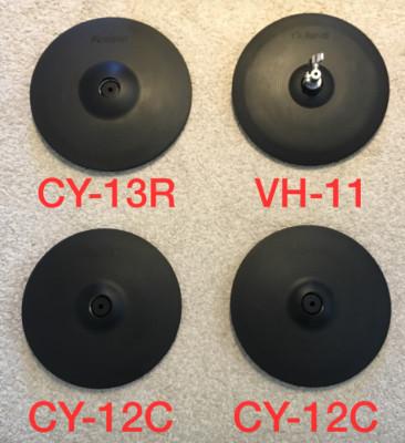Platos Roland V-Drums (VH-11, CY-13R, CY-12C)
