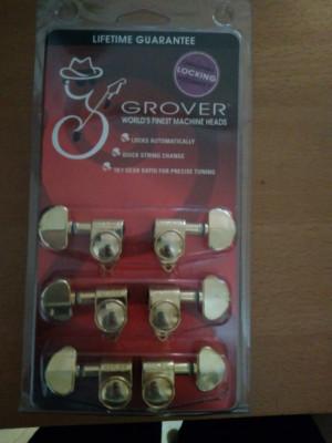 Vendo clavijas 3+3 doradas Grover Rotomatic con bloqueo en perfec