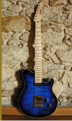 Guitarra bazaga por ampli