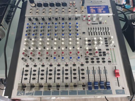 mesa de directo alto L-12  Mesa de mezclas de 12 canales (6 mono