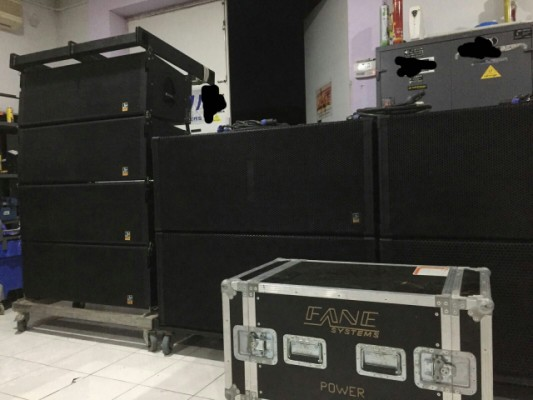 LINE ARRAY FANE SYSTEM 24000 W