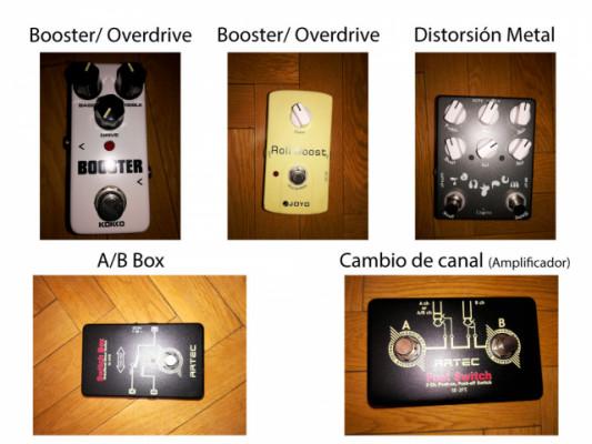 Booster - Overdrive - Distorsión - A/B Box