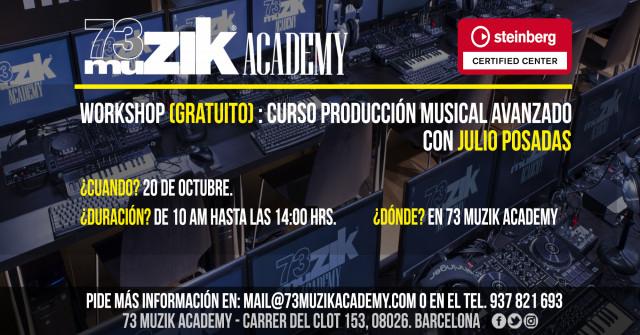 Workshop gratuito producción musical.