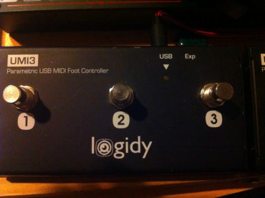 2 midi foot controller logidy umi 3