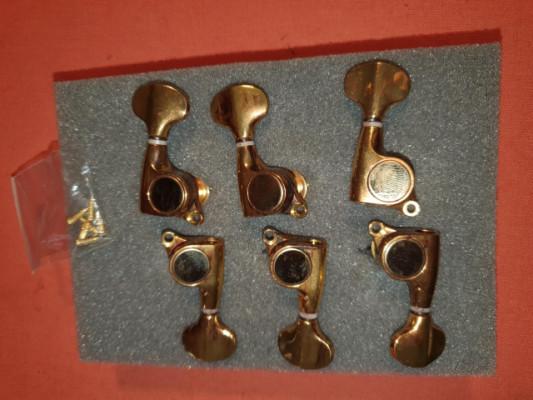 Clavijeros Vintage Gold Dorados 3+3 Nuevos