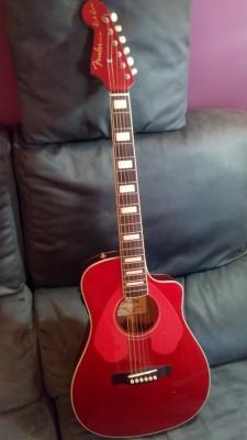 Vendo o cambio electroacustica Fender Dick Dale Signature Malibu  - Surfin' Red . firshman .