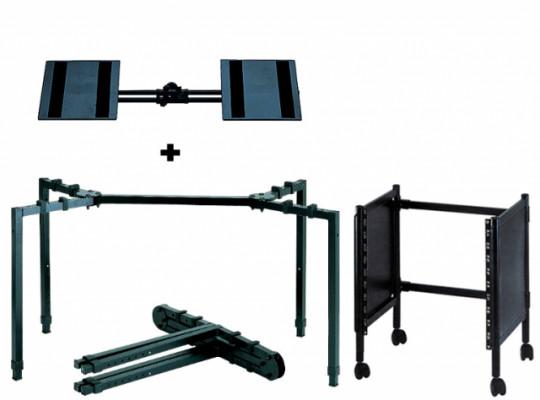 Quiklok Soportes - Mezclador + altavoz + FX 10U rack
