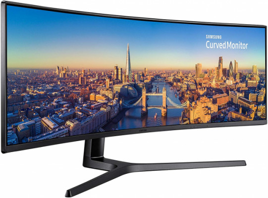 Samsung Monitor C49J890 Monitor Professionale Curvo VA 49'', Ultrawide 32:9, Full HD, 3840x1080, 144 Hz, 4 ms, 1 HDMI 2.