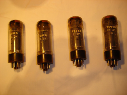 Válvulas EL 34 TESLA (MARSHALL, etc...). 90'S. Brown Base