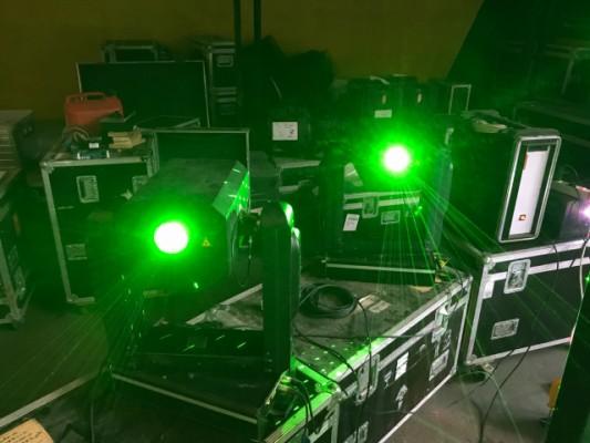 Laser Blitz stage  de Laseranimation