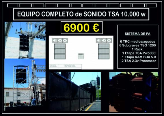 EQUIPO COMPLETO DE SONIDO TSA 10. 000 W