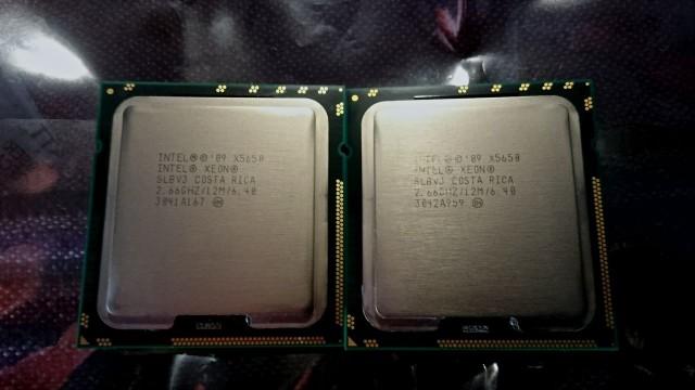 Procesadores x5650 a 2.66 Ghz de 6 núcleos.