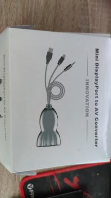 Mini DisplayPort a AV conversor + capturadora analógica MAC