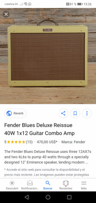 Vendo Fender Blues Deluxe Reissue(rebajado está semana)