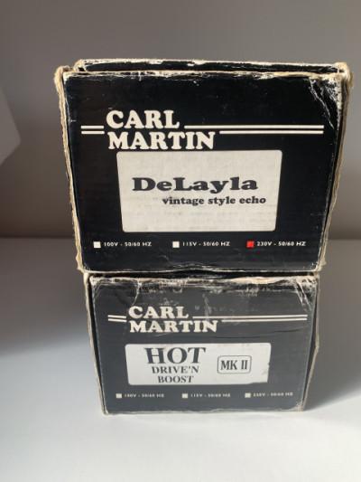 Pedales Carl martin delayla y hot