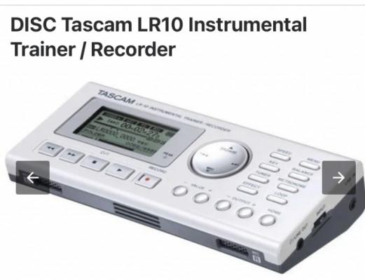 Entrenador, grabador Tascam LR-10