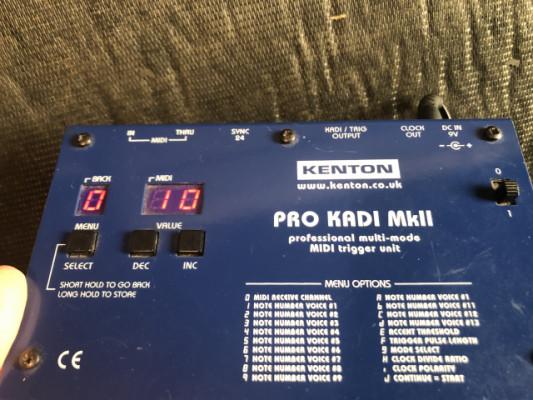 Kenton Pro Kadi Mk2 profesional midi triguers unit ( perfecto sync tb303tr808mc20