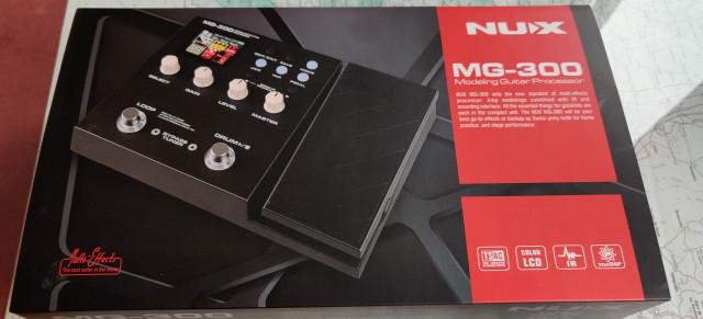 Pedalera multiefectos para guitarra Nux mg300