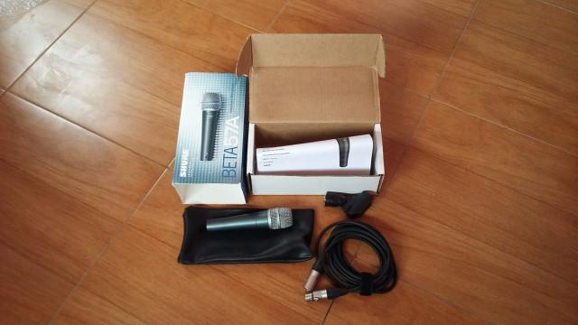 Micrófono Shure Beta 57A + Cable Neutrik