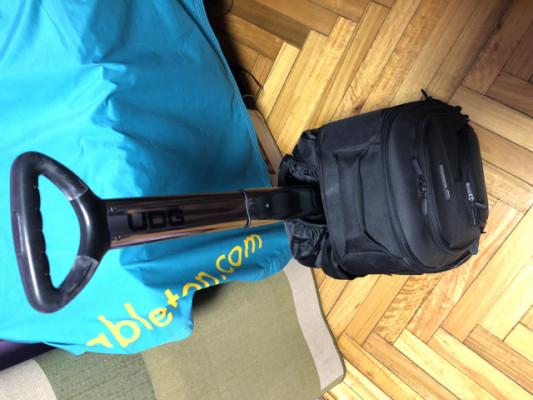 """UDG U8007BL Creator Wheeled Laptop Backpack Black 21"""" Version 2"""