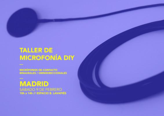 Taller de Microfonía / Madrid / Febrero 2019