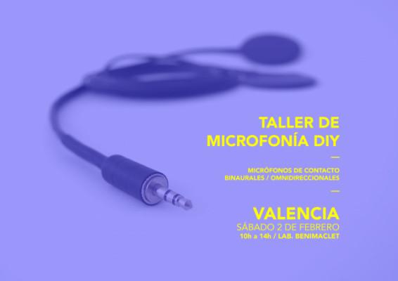 Taller de Microfonía / Valencia / febrero 2019