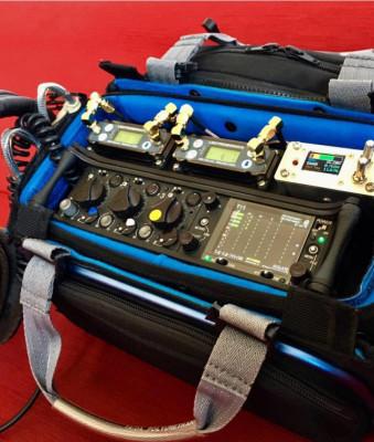 Bolso de sonido completo. Sound devices 633 + Lectrosonics + RFDistro+Extra