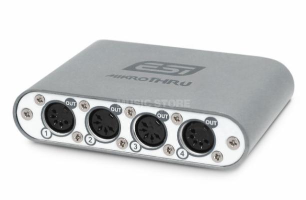 ESI mikroTHRU compacto 4-canales MIDI Splitter