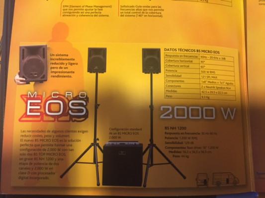 Vendo Equipo Black Sound Micro EOS
