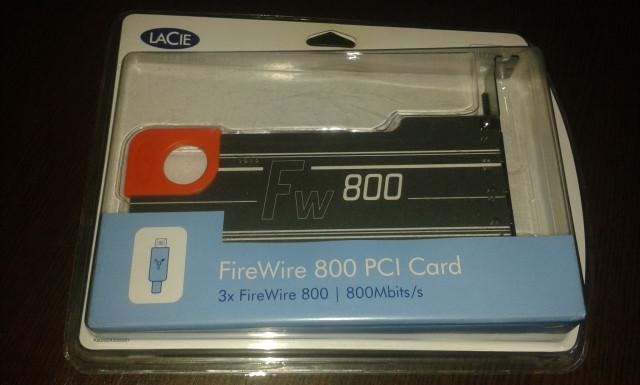 Firewire 800 PCI Lacie - nueva sin abrir