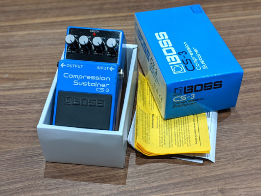 Pedal Boss CS-3 Compression Sustainer.