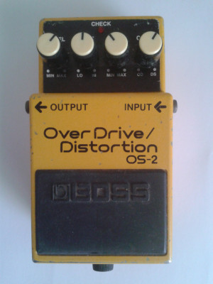 PEDAL OVERDRIVE / DISTORTION BOSS OS-2, ENVÍO INCLUIDO