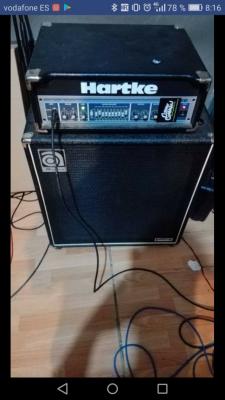 Cabezal Hartke HA3500+Pantalla Ampeg 4x10 HE