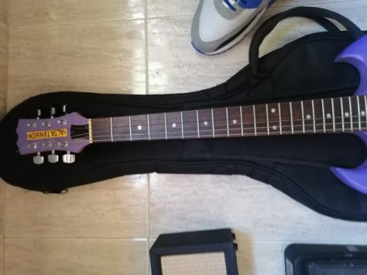 guitarra ampli y pedal
