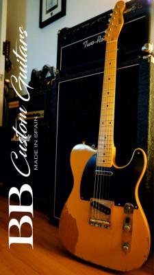BB Custom Guitars Tele Butterscotch Relic   - R E S E R V A D A .
