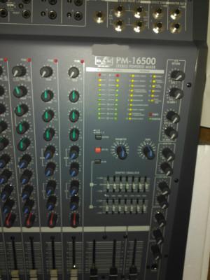 Mezclador 16 Can amplificado 1000w