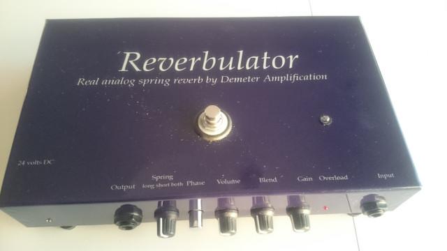 Demeter Reverbulator - (pedal de Reverb a Muelles)