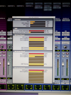 Pro Tools HD3 (32/40 in/out analog)+192+96i+888+882+Cableado (+MacPro 3.1)